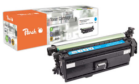 Peach  Tonermodul cyan, kompatibel zu Original HP LaserJet Pro 500 color MFP M 570 dw