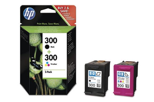 Original  Combopack Tinte schwarz, color HP DeskJet D 2530