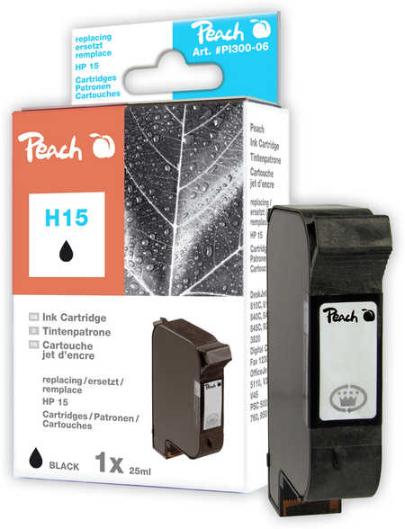 Peach  Druckkopf schwarz kompatibel zu Original HP OfficeJet V 40
