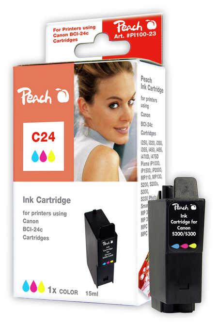 Peach  Tintenpatrone color kompatibel zu Canon Multipass F 20