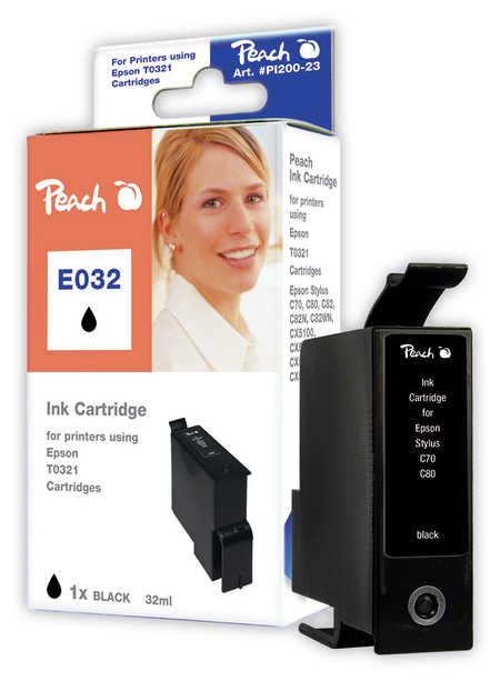 Peach  Tintenpatrone schwarz kompatibel zu Original Epson Stylus C 80