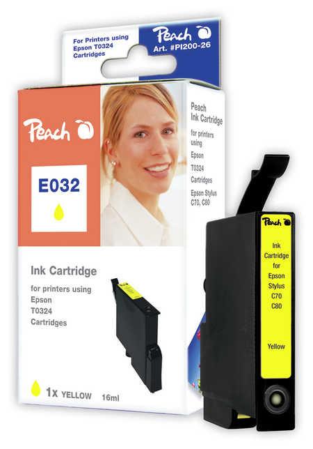 Peach  Tintenpatrone gelb kompatibel zu Original Epson Stylus C 80