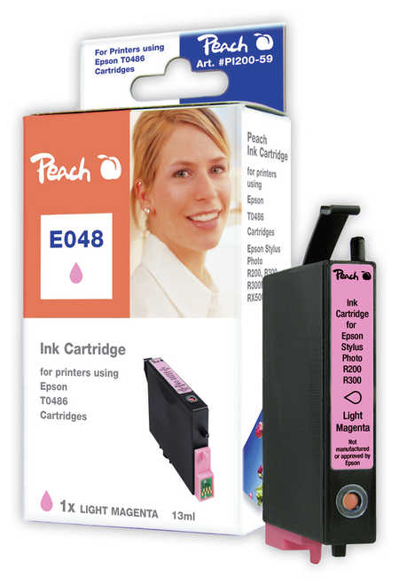 Peach  Tintenpatrone magenta light kompatibel zu Original Epson Stylus Photo R 340