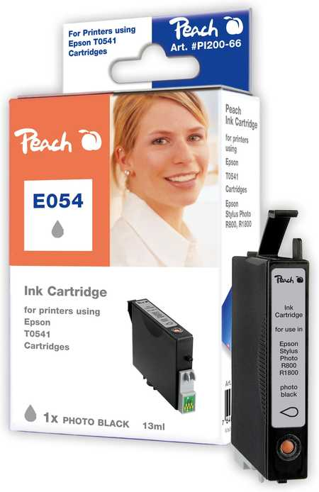 Peach  Tintenpatrone photo schwarz kompatibel zu Original Epson Stylus Photo R 1800