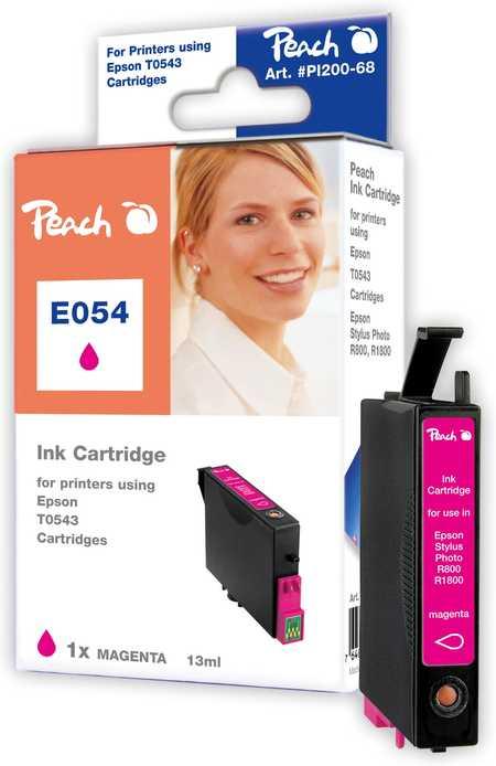 Peach  Tintenpatrone magenta kompatibel zu Original Epson Stylus Photo R 1800