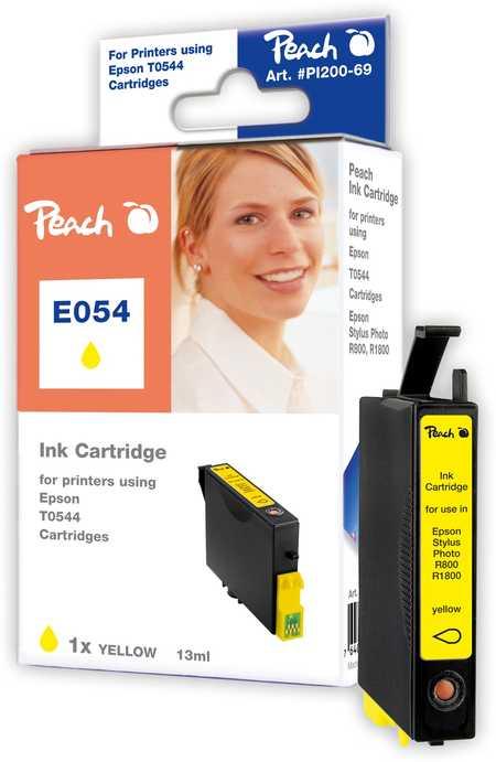 Peach  Tintenpatrone gelb kompatibel zu Original Epson Stylus Photo R 1800