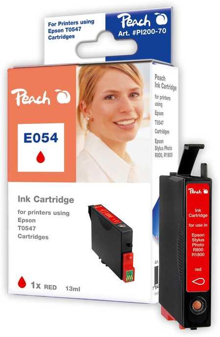 Peach  Tintenpatrone rot kompatibel zu Original Epson Stylus Photo R 1800