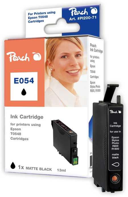 Peach  Tintenpatrone matt schwarz kompatibel zu Original Epson Stylus Photo R 1800