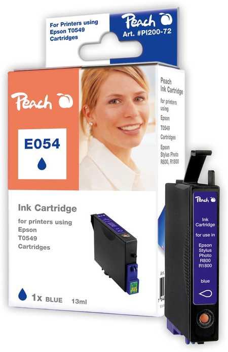 Peach  Tintenpatrone blau kompatibel zu Original Epson Stylus Photo R 1800