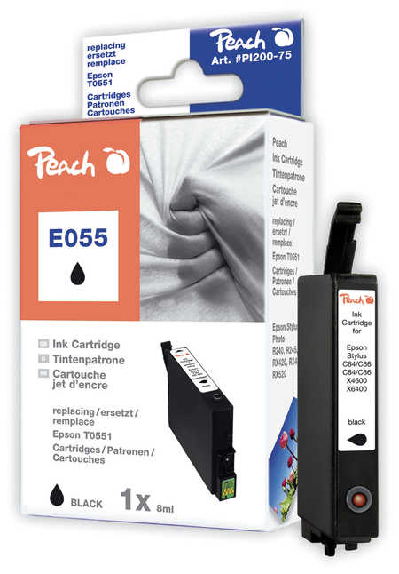 Peach  Tintenpatrone schwarz kompatibel zu Original Epson Stylus Photo RX 520