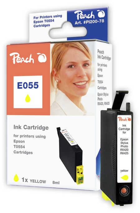 Peach  Tintenpatrone gelb kompatibel zu Original Epson Stylus Photo R 240