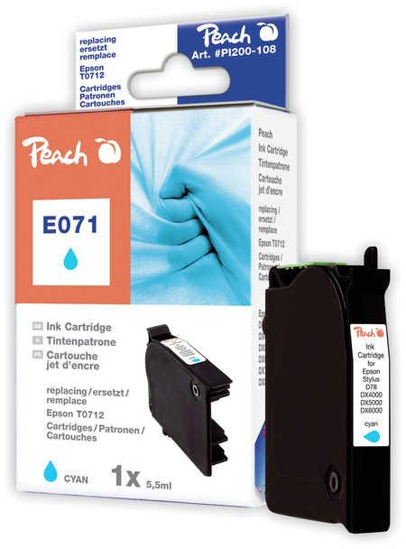 Peach  Tintenpatrone cyan kompatibel zu Original Epson Stylus Office BX 600 FW
