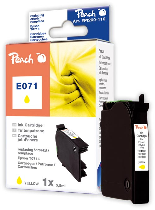 Peach  Tintenpatrone gelb kompatibel zu Original Epson Stylus Office BX 600 FW