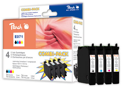 Peach  Spar Pack Tintenpatronen kompatibel zu Original Epson Stylus Office BX 600 FW