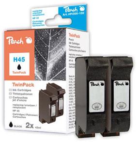 Peach  Doppelpack Druckköpfe schwarz kompatibel zu Original HP Color Copier 110