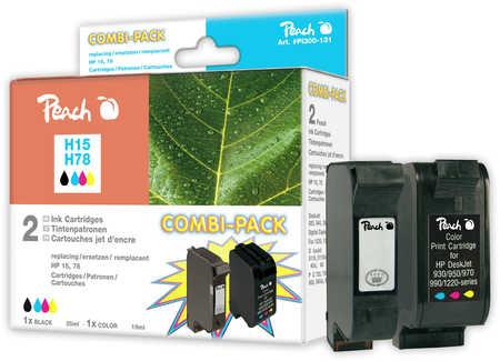 Peach  Spar Pack Druckköpfe kompatibel zu Original HP OfficeJet V 40 XI