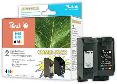Peach  Spar Pack Druckköpfe kompatibel zu Original HP OfficeJet G 85