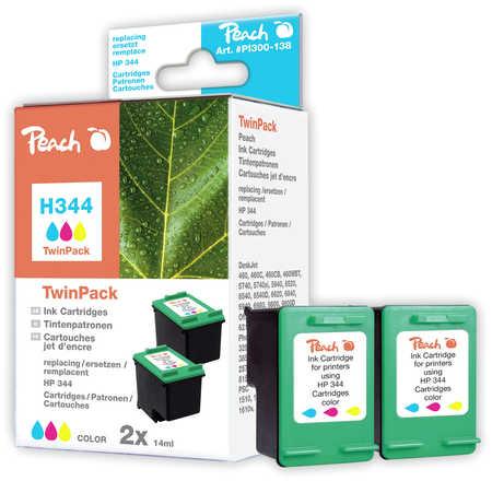 Peach  Doppelpack Druckköpfe color kompatibel zu Original HP PhotoSmart 385 XI