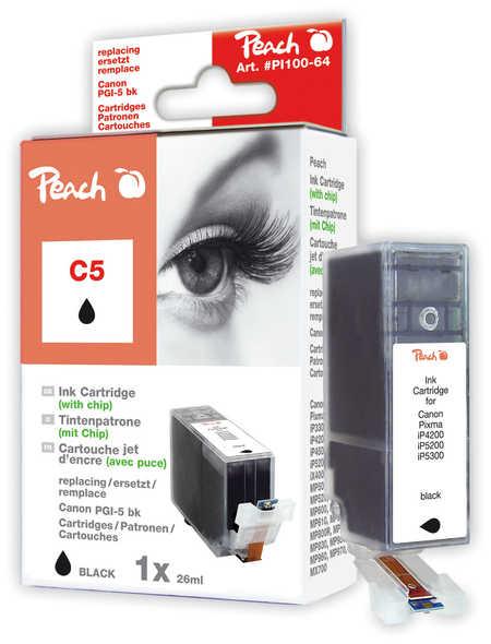 Peach  Tintenpatrone schwarz kompatibel zu Original Canon Pixma IX 4000 Series