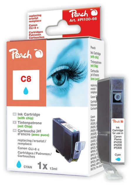 Peach  Tintenpatrone cyan kompatibel zu Original Canon Pixma IX 4000 Series