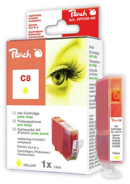 Peach  Tintenpatrone gelb kompatibel zu Original Canon Pixma IX 4000 Series