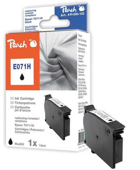 Peach  Tintenpatrone schwarz kompatibel zu Original Epson Stylus Office BX 600 FW