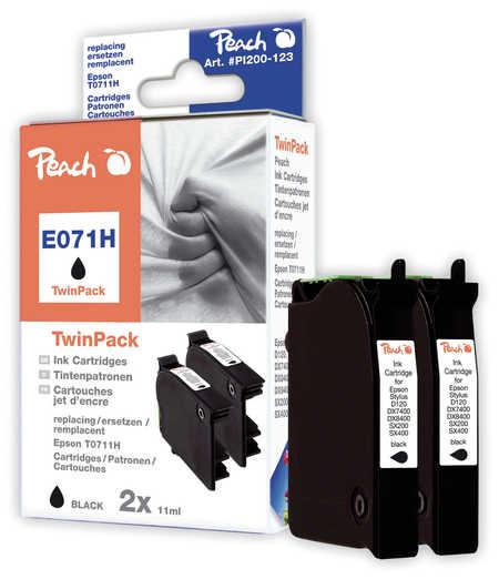 Peach  Doppelpack schwarz kompatibel zu Original Epson Stylus Office BX 600 FW