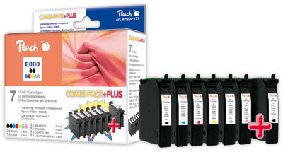 Peach  Spar Pack Plus Tintenpatronen kompatibel zu Original Epson Stylus Photo R 265