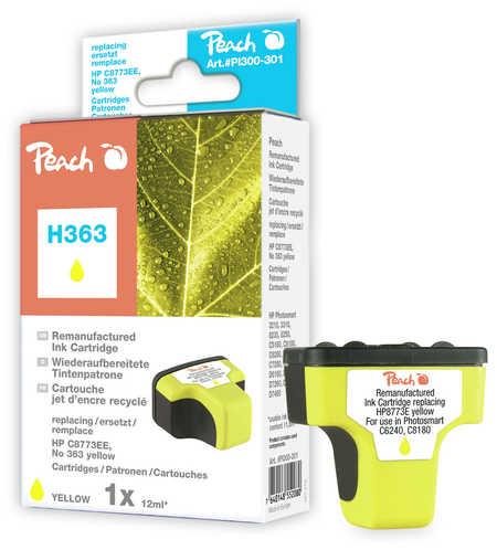 Peach  Tintenpatrone gelb kompatibel zu Original HP PhotoSmart 3310