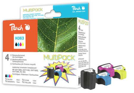 Peach  Spar Pack Tintenpatronen kompatibel zu Original HP PhotoSmart 3310