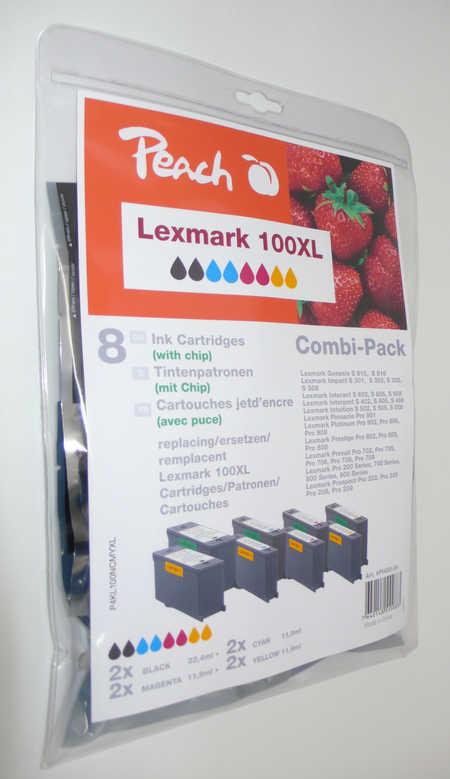 Peach  Spar Pack Tintenpatronen kompatibel zu Original Lexmark Impact S 302