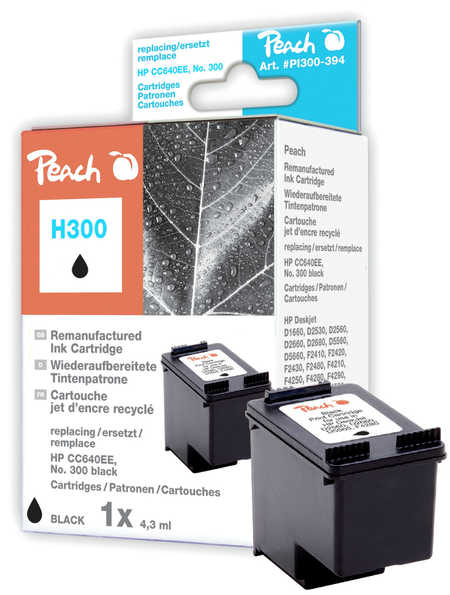Peach  Druckkopf schwarz kompatibel zu Original HP DeskJet D 2530
