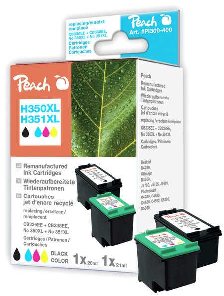 Peach  Spar Pack Druckköpfe kompatibel zu Original HP PhotoSmart D 5368