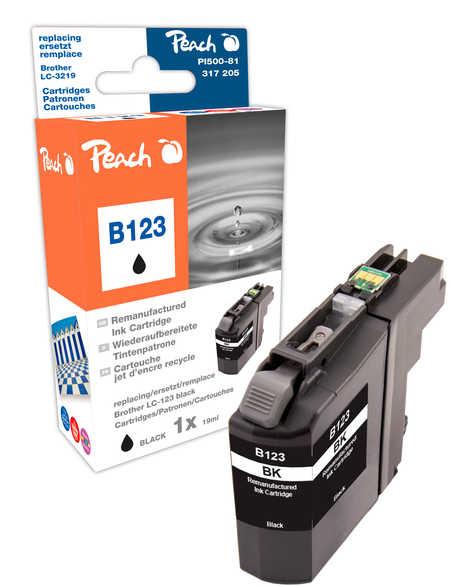 Peach  Tintenpatrone schwarz kompatibel zu Original Brother MFCJ 4510 DW