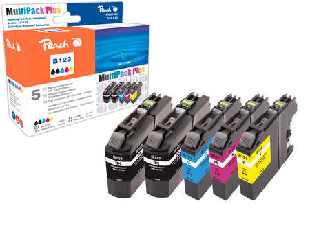 Peach  Spar Pack Plus Tintenpatronen, kompatibel zu Original Brother MFCJ 4510 DW