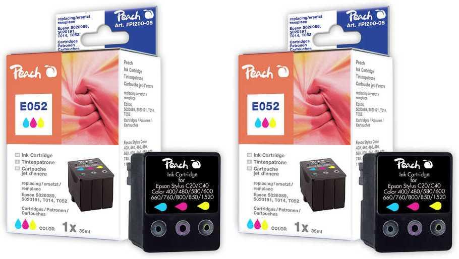 Peach  Doppelpack Tintenpatronen color kompatibel zu Original Epson MJ 830 C