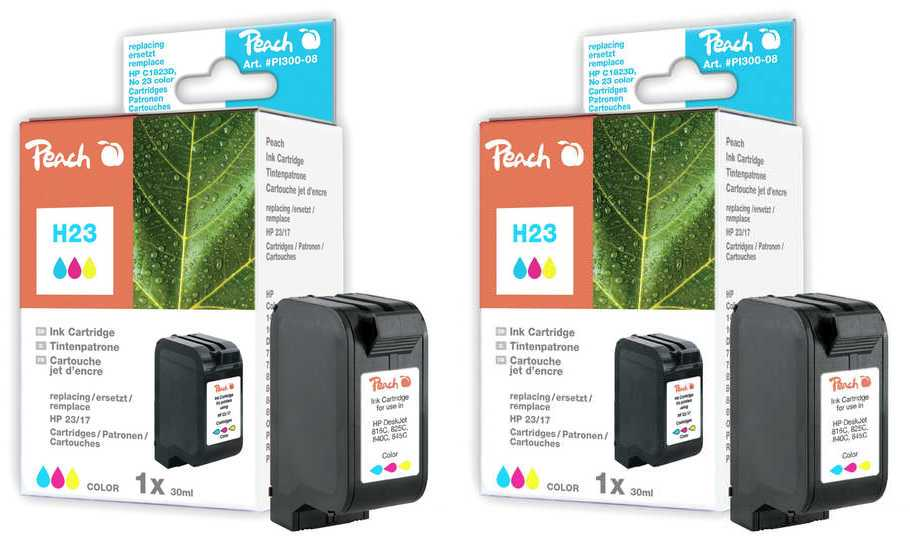 Peach  Doppelpack Tintenpatronen color kompatibel zu Original HP Color Copier 140
