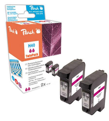 Peach  Doppelpack Druckköpfe magenta kompatibel zu Original HP Color Copier 210 Series